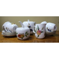 Royal Worcester Evesham Pattern 6 Place Setting Tea Service