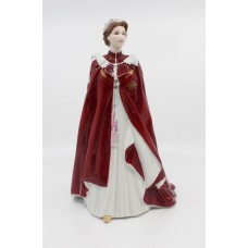 Royal Worcester Figurine Celebration of the Queen's 80th Birthday