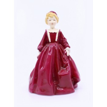 Royal Worcester Figurine Claret Grandmothers Dress 3081