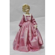 Royal Worcester Figurine Grandmother's Dress' Pink Dress 3081