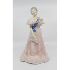 Royal Worcester Figurine Her Majesty Queen Elizabeth The Queen Mother