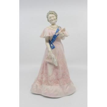 Royal Worcester Figurine Her Majesty Queen Elizabeth The Queen Mother