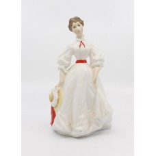 Royal Worcester Figurine Morning Walk Red & White