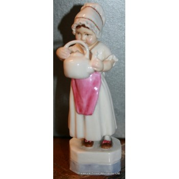 Royal Worcester Figurine 'Polly put the kettle on' 3303