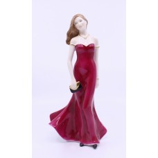 Royal Worcester Figurine Stunning in Red