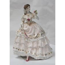 Royal Worcester Romantic Figurine 'The Fairest Rose'