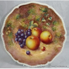 Hand Painted Worcester Fruit Plate by Freeman