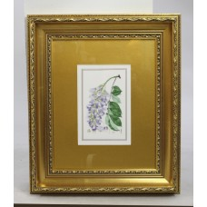 Royal Worcester Wistaria Porcelain Plaque Set in Gilt Frame