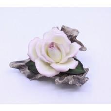 Royal Worcester Porcelain & Bronze Pink Rose