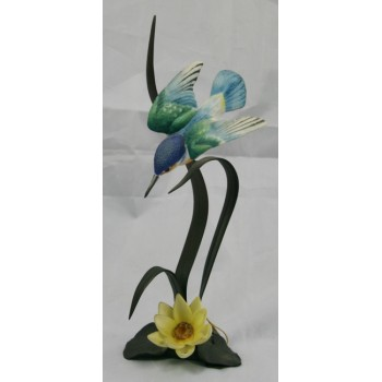 Royal Worcester Kingfisher Porcelain on Bronze Figure