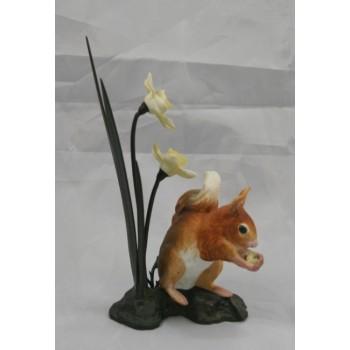 Royal Worcester Squirrel Porcelain on Bronze Figure