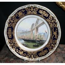 "Royal Worcester ""Royal Albert Bridge"" Plate"