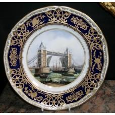 "Royal Worcester ""Tower Bridge"" Plate"