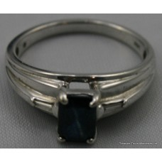 Sapphire 14ct White Gold Ring