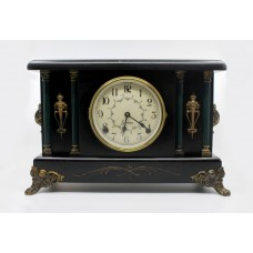 Early 20th c. American Sessions Ebonized Mantle Clock