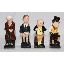 Set of 4 Royal Doulton Charles Dickens Figurines