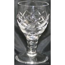 Set of 6 Fine Cut Glass Crystal Port Glasses
