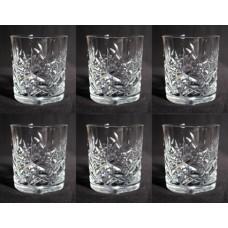 Set of 6 Cut Glass Stourbridge Crystal Spirit Glasses