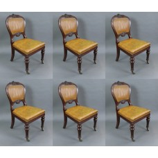 Set of 6 Mid 19th c. Gillow Mahogany Library Chairs