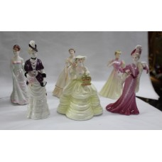 Set of 6 Coalport Miniature Ladies Figurines