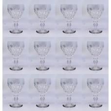 "Set of 12 Royal Brierley ""Elizabeth"" Cut Dessert Wine Glasses"