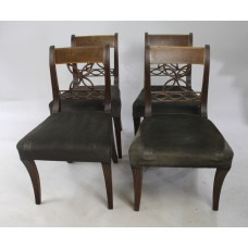 Set of 4 Early 19th c. Mahogany Chairs