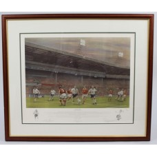 "Signed Limited Edition Framed Football Print ""Coming Home"""