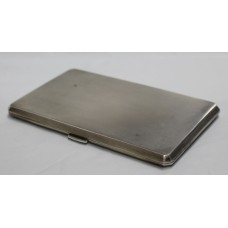 Sterling Silver Engine Turned Hallmarked Cigarette Case Birmingham 1962