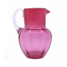 Small Victorian Cranberry Glass Jug