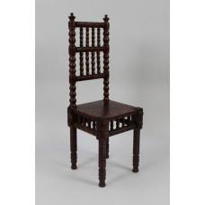 Small Victorian Oak English Childs Bobbin Chair