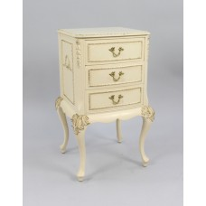 Small Vintage Olympus Louis XV Style Cream Chest of Drawers
