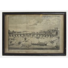 The South East Prospect of Westminster Bridge 18th c. Etching c.1740