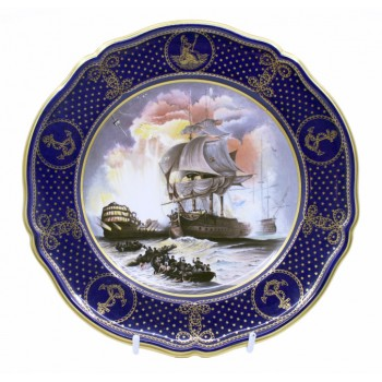 Spode The Maritime England No.2 Battle of The Nile Cabinet Plate