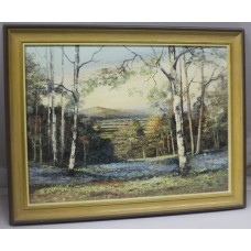 """Spring Evening"" Landscape Malvern Hills Oil on Canvas by Alan King"