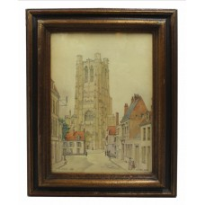 St Omer 1918 Watercolour by George Salway Nicol (1878-1930)