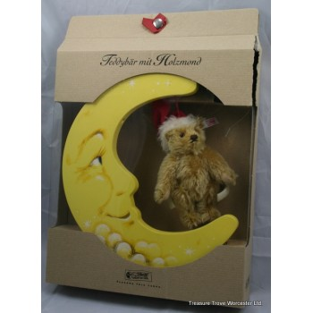 Boxed Steiff Teddy Bear with Wooden Moon
