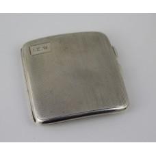 Sterling Silver Cigarette Case Birmingham 1925