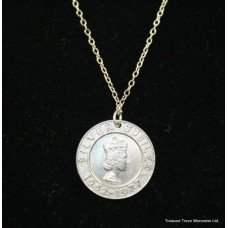 Sterling Silver Jubilee Medallion Pendant Necklace