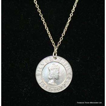 Sterling Silver Jubilee Medallion Pendant Necklace