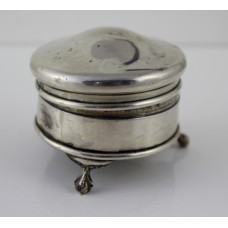 Sterling Silver Velvet Lined Pin Cushion Birmingham 1920