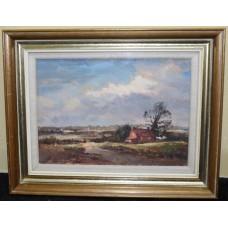 Suffolk Landscape by Andrew King ROI Oil on Board