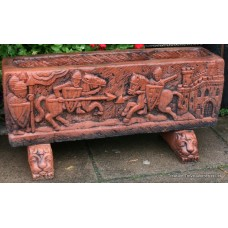 Heavy Terracotta Style Arthurian Trough Planter