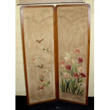 Two Fold Embroidery Needlework Screen