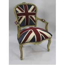 Union Jack Armchair with Decapé Frame