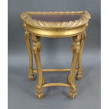 Victorian Carved Giltwood Bijouterie Cabinet
