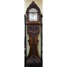 Victorian Heavily Carved Oak Longcase Clock by Thomas Turner London