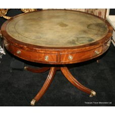 Early 19th c. English Mahogany Library Drum Table