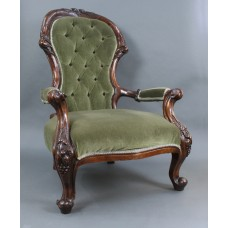Victorian Style Mahogany Spoon Back Armchair