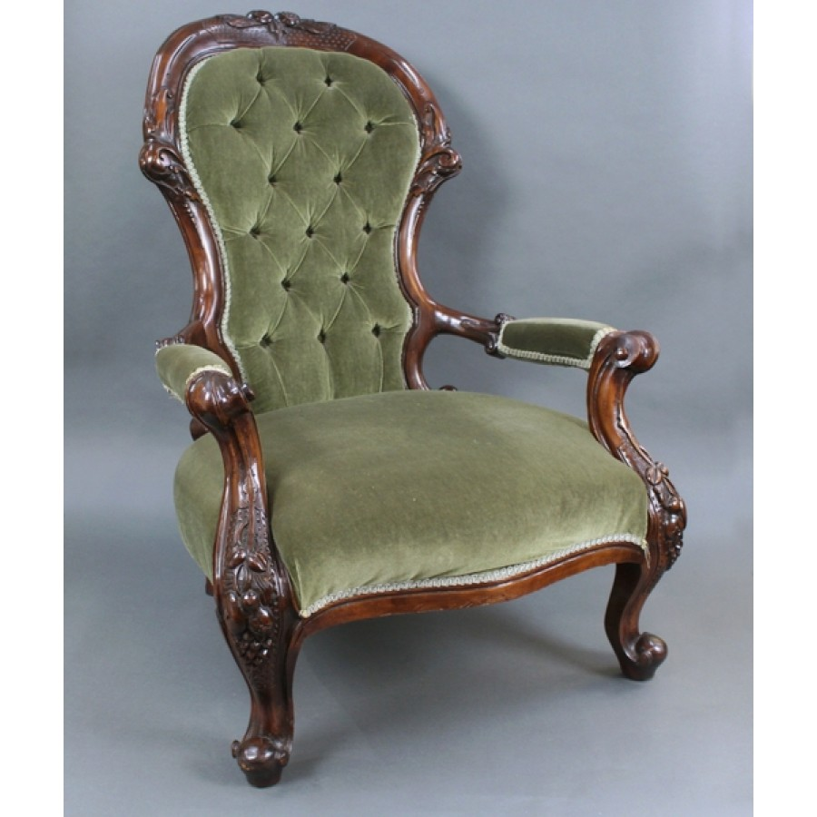 Victorian Mahogany Spoon Back Armchair