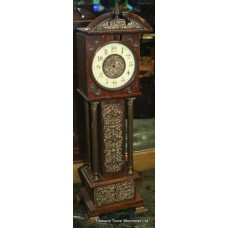 Victorian Oak Miniature Longcase Mantle Clock